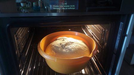 Wyrastanie ciasta w piekarniku