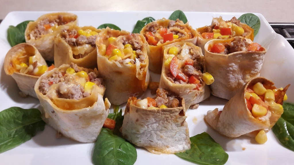Roladki z tortilli z mięsem mielonym (zapiekane)