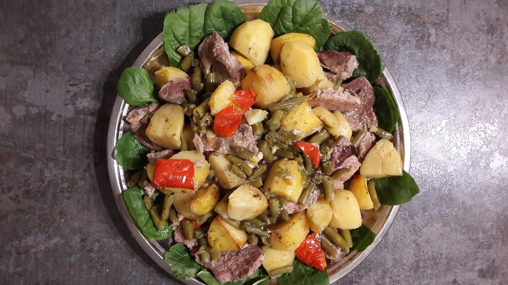 Karczek z ziemniakami i papryką
