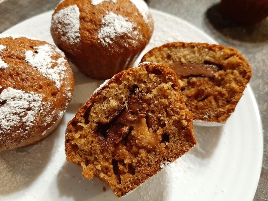 Muffinki bananowe z czekoladą i masłem orzechowym
