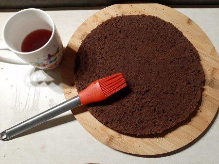 Biszkopt kakaowy do tortu