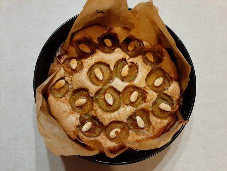 Ciasto ze śliwkami i migdałami