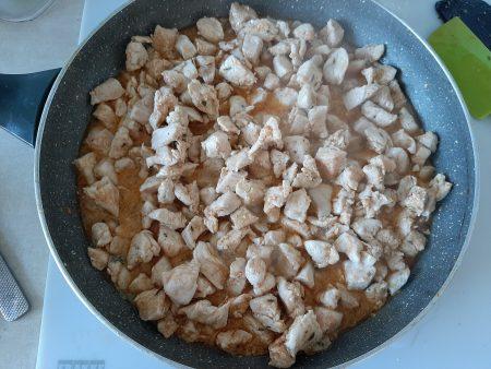 Zapiekana tortilla z kurczakiem